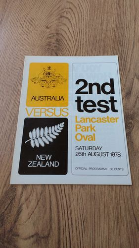 New Zealand v Australia 1978 2nd Test Rugby Programme