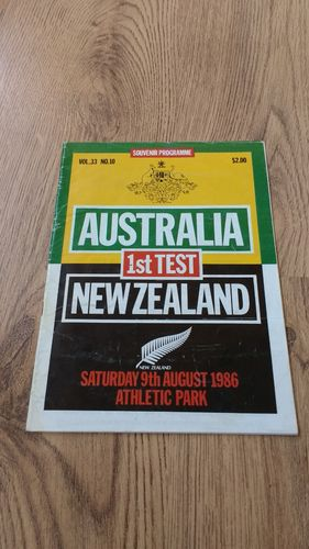 New Zealand v Australia 1986 1st Test Rugby Programme
