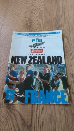 New Zealand v France 1989 1st Test Rugby Programme
