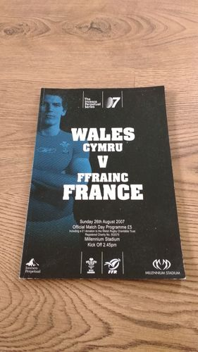 Wales v France 2007 World Cup Warm Up Rugby Programme