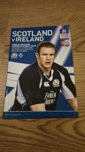 Scotland v Ireland 2007 Rugby World Cup Warm Up Programme