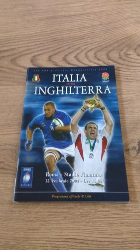 Italy v England 2004 Rugby Programme