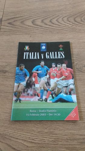 Italy v Wales 2003 Rugby Programme