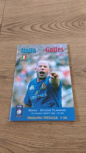 Italy v Wales 2007 Rugby Programme