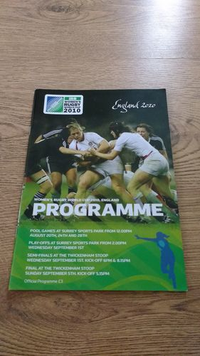 Women's Rugby World Cup 2010 Tournament Programme