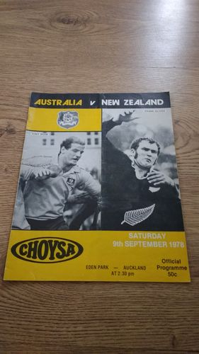New Zealand v Australia 1978 3rd Test Rugby Programme