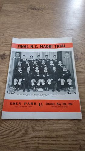 Probables v Possibles 1958 Final NZ Maori Trial Rugby Programme