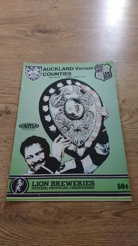 Auckland v Counties 1979 Ranfurly Shield Rugby Programme