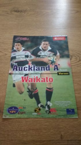 Auckland A v Waikato 1999 Rugby Programme