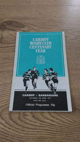 Cardiff v Barbarians 1977 Rugby Programme