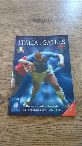 Italy v Wales 2005 Rugby Programme