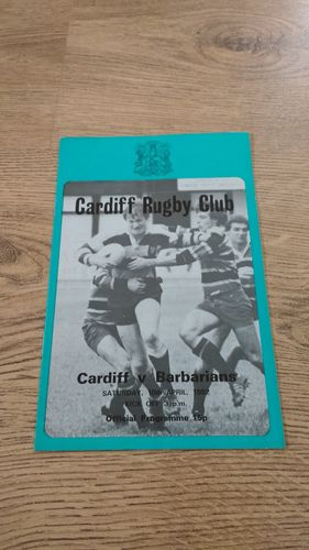 Cardiff v Barbarians 1982 Rugby Programme