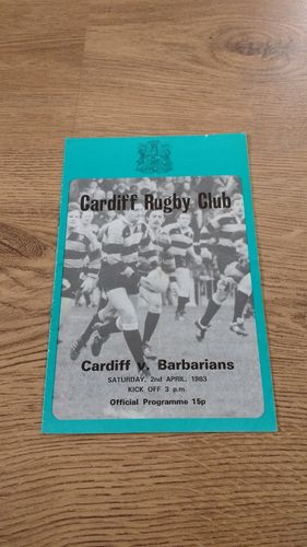 Cardiff v Barbarians 1983 Rugby Programme