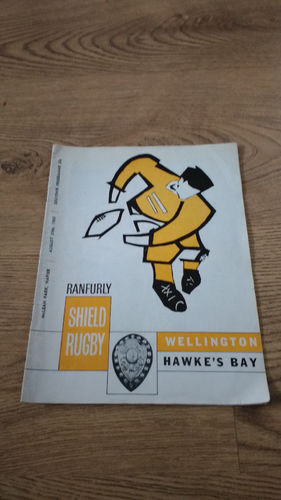Hawkes Bay v Wellington Aug 1969 Rugby Programme