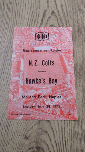 Hawkes Bay v New Zealand Colts June 1975 Rugby Programme