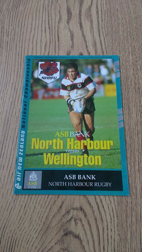 North Harbour v Wellington Oct 1994 Rugby Programme