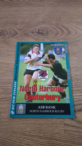 North Harbour v Canterbury NPC Semi-Final Oct 1994 Rugby Programme