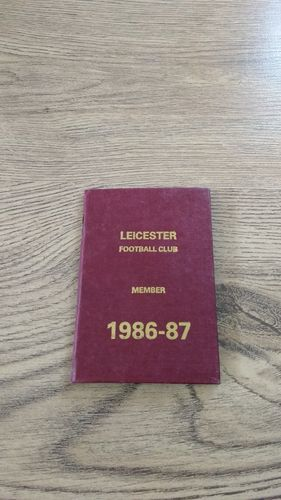 Leicester Rugby 1986-87 Members Ticket and Fixture Book
