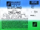 Rugby World Cup (RWC) Tickets / Pass - Used