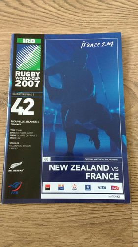 New Zealand v France 2007 Rugby World Cup Q-Final Programme