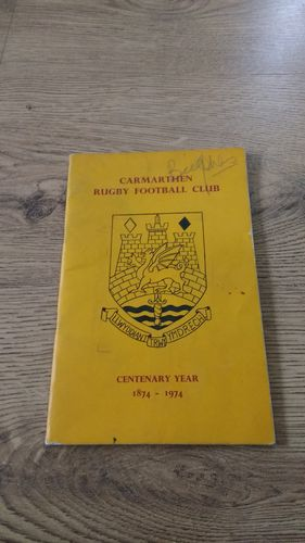 Carmarthen Rugby Club 1974 Centenary Brochure