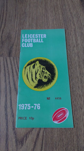 Leicester v Barbarians Dec 1975 Rugby Programme