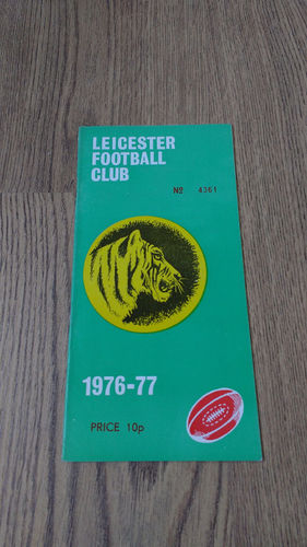 Leicester v Barbarians Dec 1976 Rugby Programme