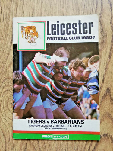Leicester v Barbarians 1986 Rugby Programme