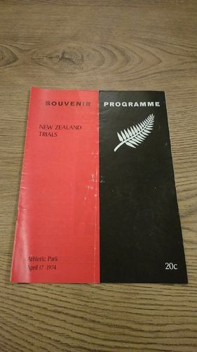 Probables v Possibles All Black Trials 1974 Rugby Programme