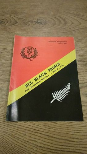 Probables v Possibles All Black Trials 1975 Rugby Programme