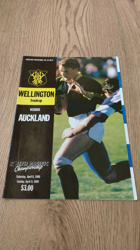Wellington v Auckland Apr 1989 Rugby Programme