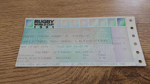 New Zealand v Italy 1991 Rugby World Cup Ticket