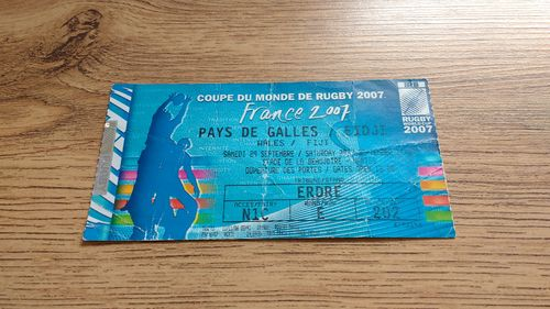 Wales v Fiji 2007 Rugby World Cup Ticket