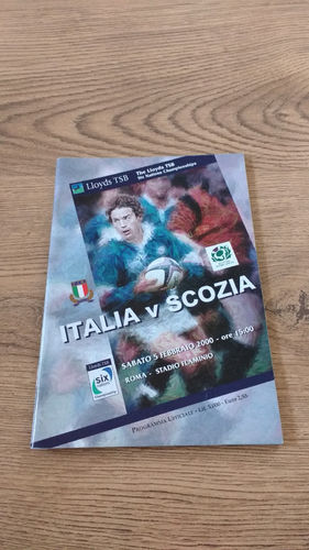 Italy v Scotland 2000 Rugby Programme