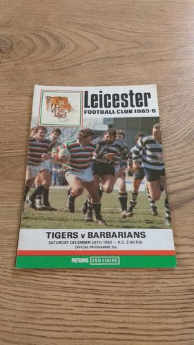 Leicester v Barbarians Dec 1985 Rugby Programme