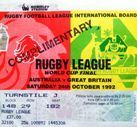 Rugby League Tickets - Used
