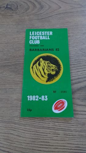 Leicester v Barbarians 1982 Rugby Programme
