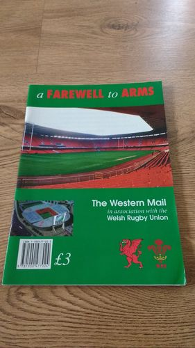 ' A Farewell to Arms ' 1997 History of Cardiff Arms Park Rugby Brochure