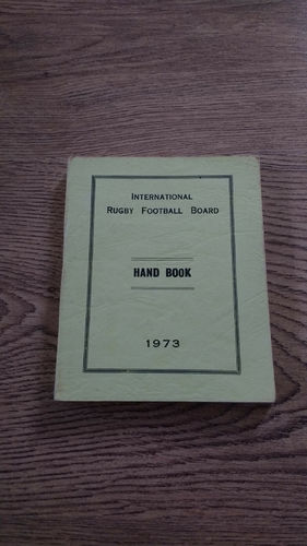 International Rugby Football Board 1973 Handbook