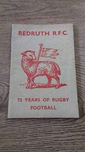 ' Redruth RFC - 75 Years of Rugby Football ' 1950-51 Rugby Union Brochure