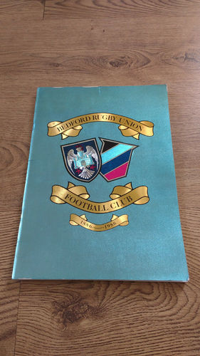 Bedford Rugby Union Football Club Centenary Brochure 1986