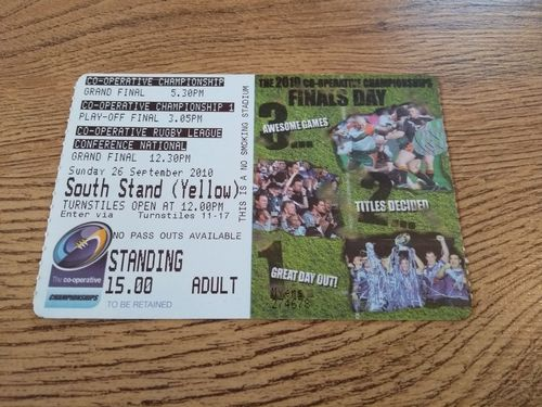 Featherstone v Halifax 2010 Championship Grand Final RL Ticket