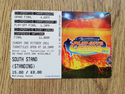 Featherstone v Sheffield 2011 Championship Grand Final RL Ticket
