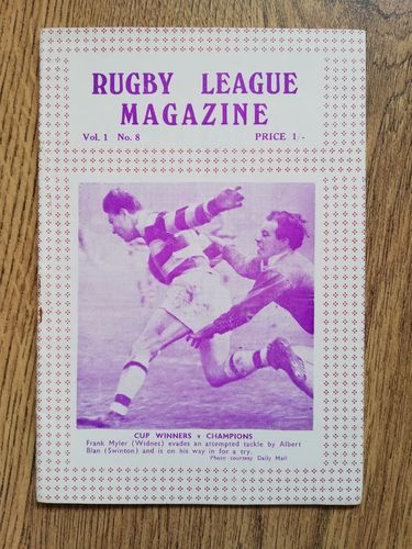 'Rugby League Magazine' Volume 1 Number 8 : August 1964
