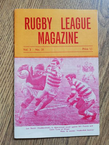 'Rugby League Magazine' Volume 3 Number 31 February 1969