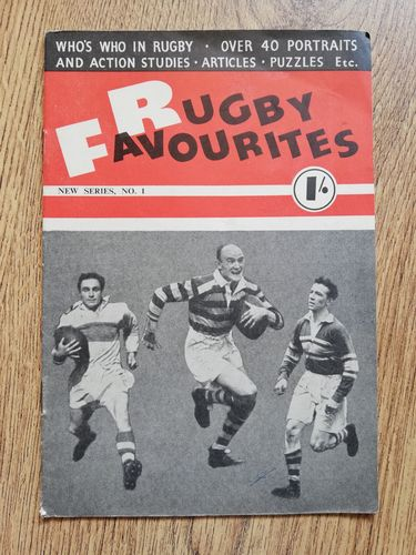 'Rugby Favourites' 1952 Number 1 Rugby League Magazine