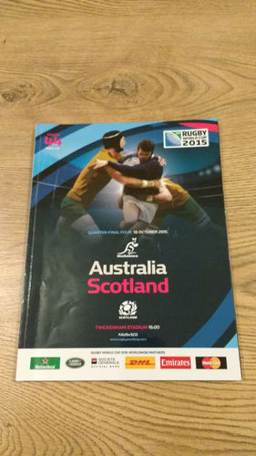 Australia v Scotland 2015 Rugby World Cup Quarter-Final Programme