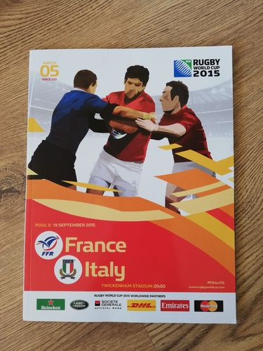 France v Italy 2015 Rugby World Cup Programme