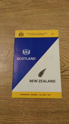 New Zealand v Scotland 1st Test 1981 Rugby Programme