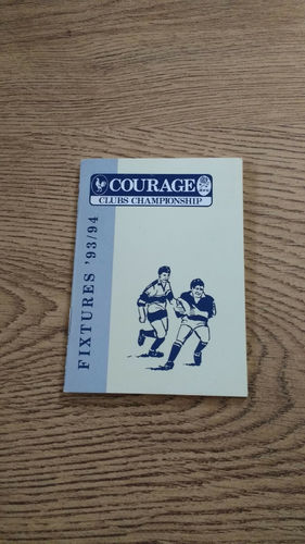 Courage RFU Clubs Championship Fixture Book 1993/94
